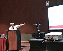 Dr. Stan the Stats man talking at the Joint Math Convention in San Antonio in 2015
