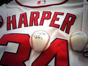 Bryce Harper shirt and ball